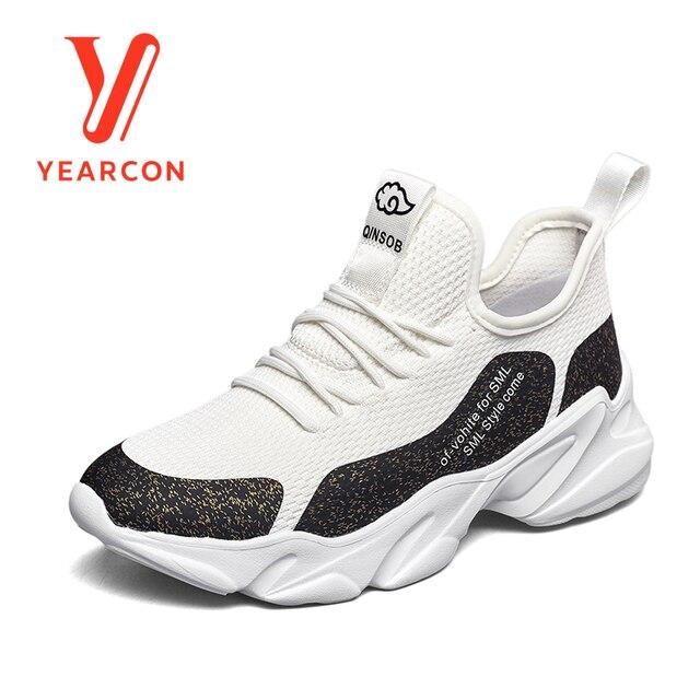 e803e4b1 Yearcon/Женская Вулканизированная обувь для повседневной носки, спортивная  обувь, модные кроссовки, обувь