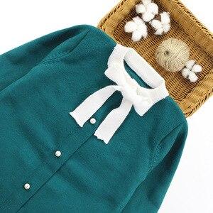 Image 3 - Winter Girls Sweater Clothing Set Kids Warm Knitwear Sweater & Skirt 2 Pieces Dress Suit Teenage Kids Overall Winter Girls