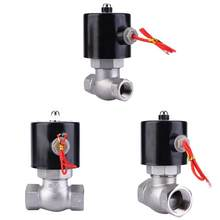 Shut-Off Valve Stainless Steel Dua Arah Biasanya Ditutup Solenoid Valve untuk Air Uap Manual Flush Valve(China)