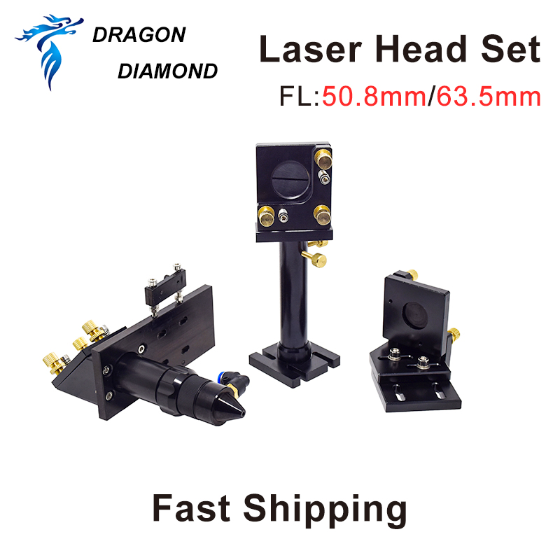 Dragon Diamond CO2 Laser Head Set A / Mirror And Focus Lens Integrative Mount Holder For Laser Engraving Cutting Machine