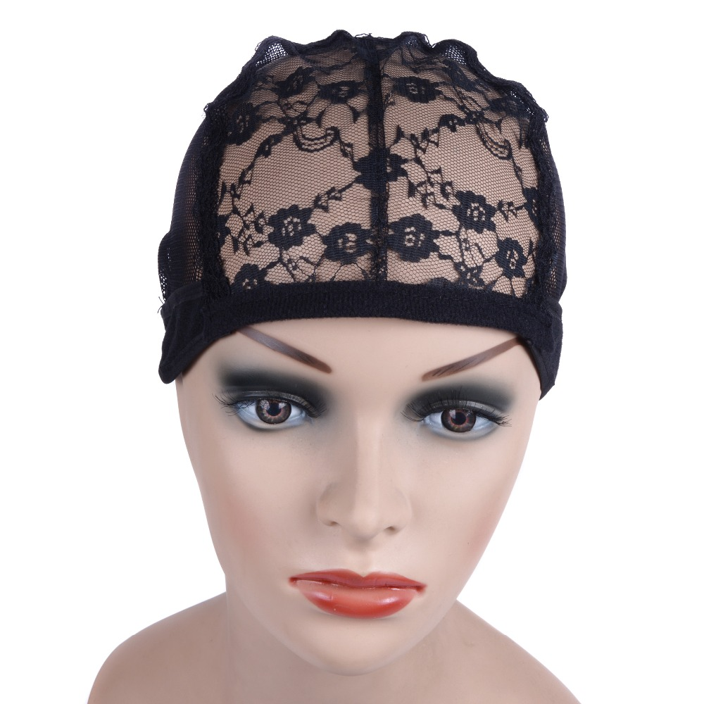 1pc  Lace Wig Caps For Making Wigs And Hair Weaving Stretch Adjustable Wig Cap Hot Black Dome Cap For Wig Hairnets 1
