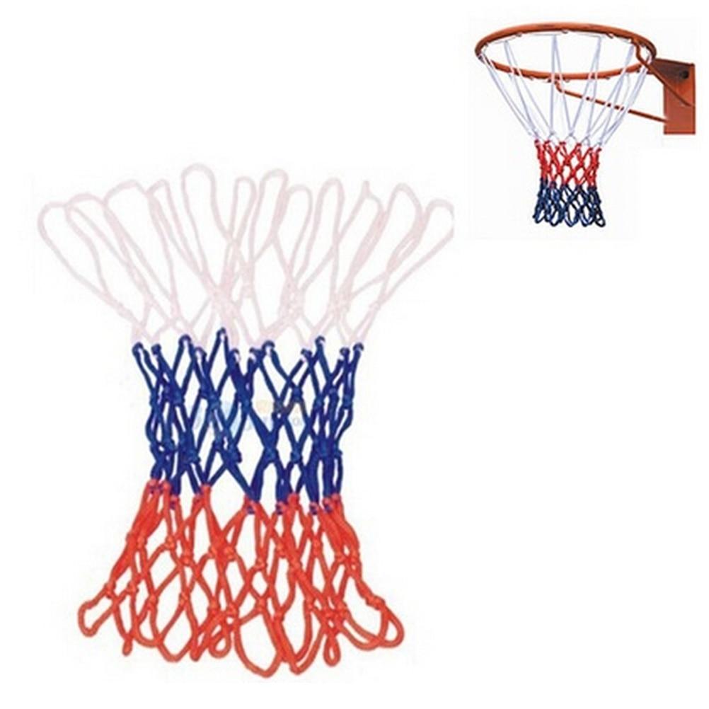 1pc Nylon Thread Sports Bold Type Durable Standard Basketball Hoop Mesh Polypropylene Net Backboard Rim Ball Pum 3 Colors