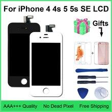 AAA Качество lcd 4S 4 5 дисплей кодирующий преобразователь сенсорного экрана в сборе для iPhone 5 5c 5S SE lcd