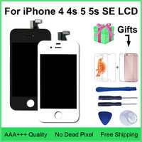 AAA Qualità LCD 4s 4 5 Display Touch Screen Digitizer Assembly Per iPhone 5 5c 5s SE LCD