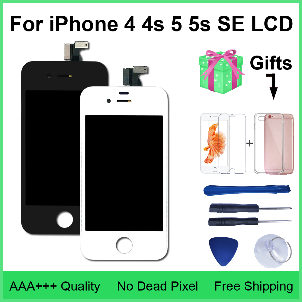 Aaa qualidade lcd 4S 4 5 display touch screen digitador assembléia para iphone 5 5c 5S se lcd
