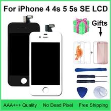 Digitalizador touch screen para iphone, display de qualidade aaa lcd 4S, 4, 5, montagem para iphone 5, 5c, 5S, se