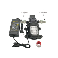 High Pressure Water Pump Sprayer 12V 5L/Min160PSI Booster Diaphragm Mist Pump With Food Grade PE Tube For Outdoor Cooling System