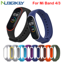 Bracelet for Xiaomi Mi Band 4 3 Sport Strap watch Silicone wrist strap For xiaomi mi band 3 accessories bracelet Miband 4 Strap