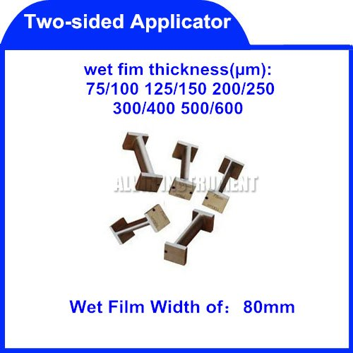 Free Shipping Two-sided Applicator(Coater) Film coaters application applicators  Wet Film Width:80mm  Standars: ASTM D 823-25 bgd202 1 stainless steel double side wet film applicator have other spec for your choice