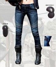 Uglybros 2Sluk-k огнеупорная ткань внутри досуг езда мотоциклов джинсы оборудованы защитной одежды UBP-003 Тонкий для женщин