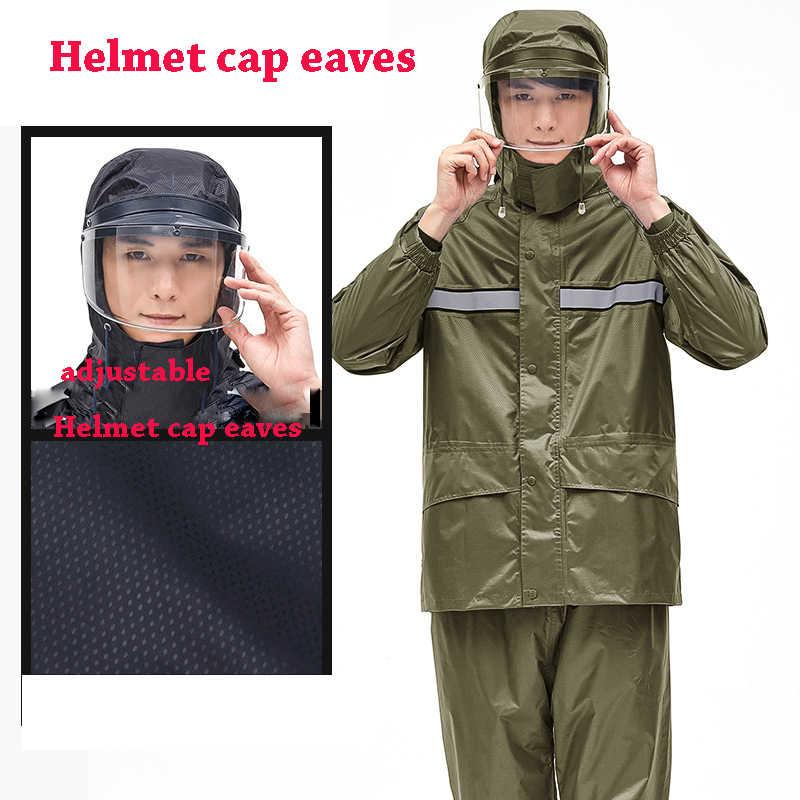 Качество мотоциклист плащ, костюм непроницаемой Для женщин/Для мужчин шлем крышка карнизы мотоцикл плащи Пеший Туризм Рыбалка дождь Шестерни WT03