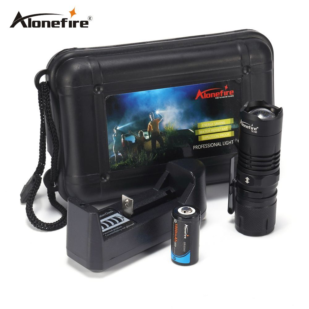 AloneFire TK100 Portable Mini Flashlight CREE XML-T6 LED lantern 4 Modes Zoomable Waterproof torch penlight for bike With Magnet free shipping cree led flashlight 3 modes zoomable torch penlight flashlight portable lighting