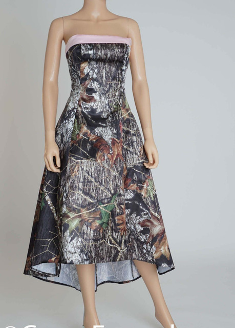 Camo Tea Length Dress