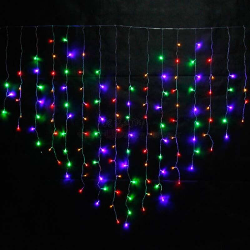 YIMIA 2x1.6m LED Holiday Christmas Curtain Lights Heart ...