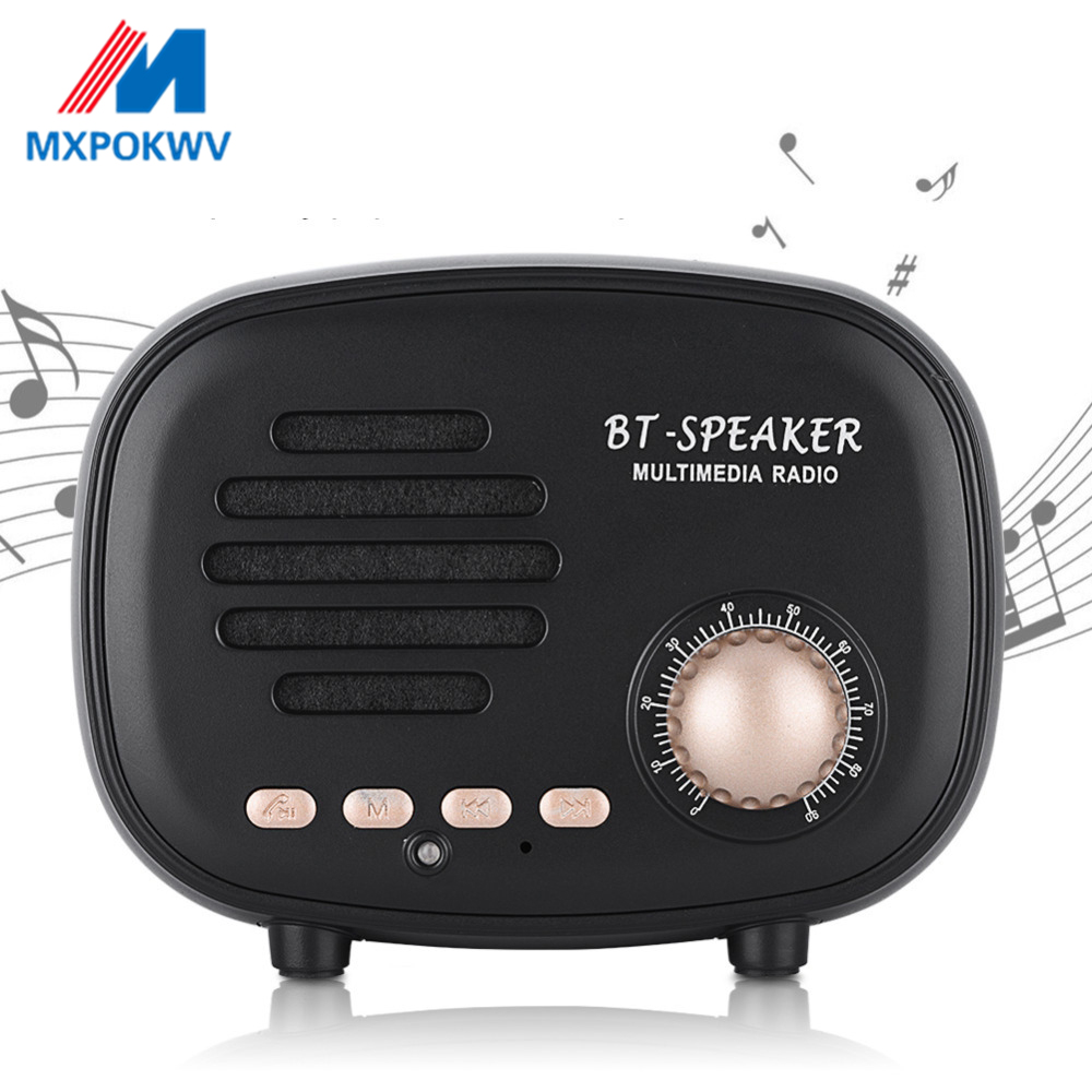 Classic Retro Mini Bluetooth Speaker Portable Music Player Subwoofer Wireless multimedia FM Radio U disk TF Handsfree for phone in Portable Speakers from Consumer Electronics