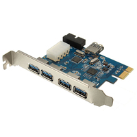PCI E Express Adapter A 5 USB 3 0 Ports HUB New Internal Expansion Card