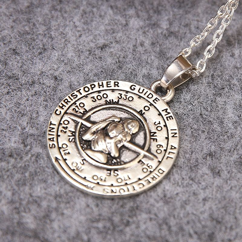 Vintage greek mythical figures saint christopher guide me in all vintage greek mythical figures saint christopher guide me in all directions pendant necklace for men and women wholesale in pendant necklaces from jewelry aloadofball Choice Image