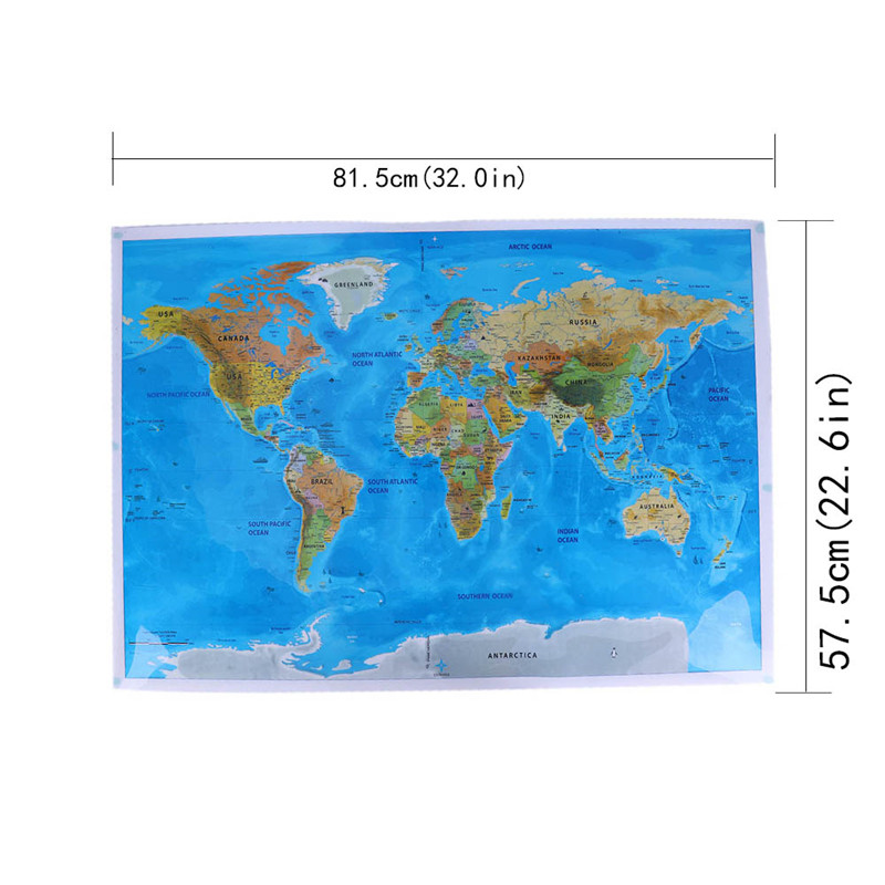 Deluxe Edition Scratch Of World Map And Travel World Poster Map Oceans 3