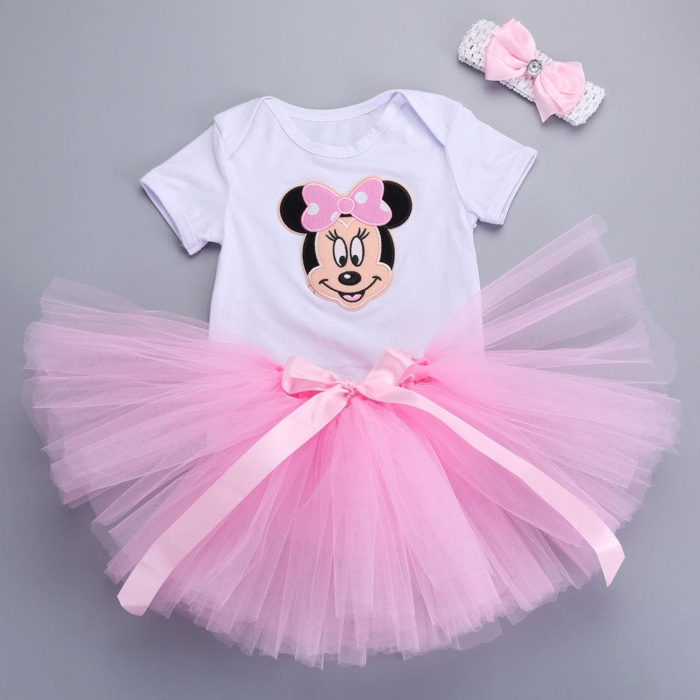 newborn baby skirt mouse tutu dress headbands set cute para bebe dress toddler clothes party. Black Bedroom Furniture Sets. Home Design Ideas