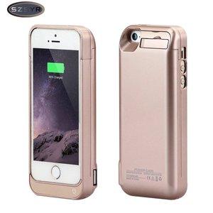 Carregador de bateria 4200 mah bateria externa carregador de backup caso power bank carregador caso para iphone 5/5S/5c se freeshipping ouro|case for|case for iphonecase power -