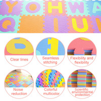 Kid's Multicolored Numbers Puzzle Play Mat EVA Drop proof Moisture proof Bubble Mat NSV775