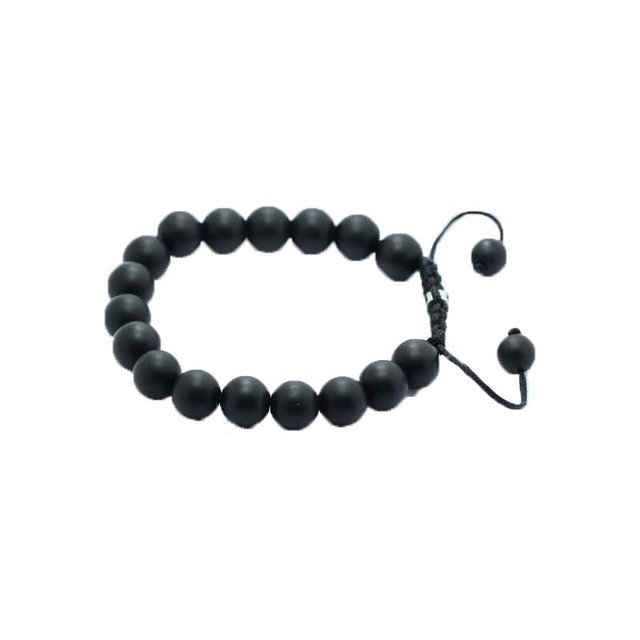 Shamballa Jewelry Black Matte Stone Bracelets For Women Men 10mm Bead Bracelet
