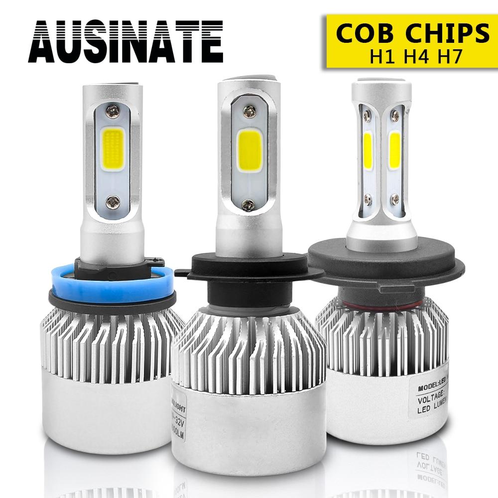 2 Pcs LED H3 H1 H7 H4 H11 HB4 H8 HB3 H27 9005 9006 H9 881 Auto Scheinwerfer Lampen 72 W 8000LM Led Nebel Licht 6500 K auto-styling DC12V