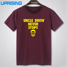 New novelty Kyrie Irving t shirt men's uncle Drew basketballs jersey O neck short-sleeve male cotton Tees shirts