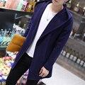 2016 Осень новых людей способа пальто средней длины тянуть homme мужская твердые тонкие кардиган длинный кардиган пальто мужской плюс размер 4xl