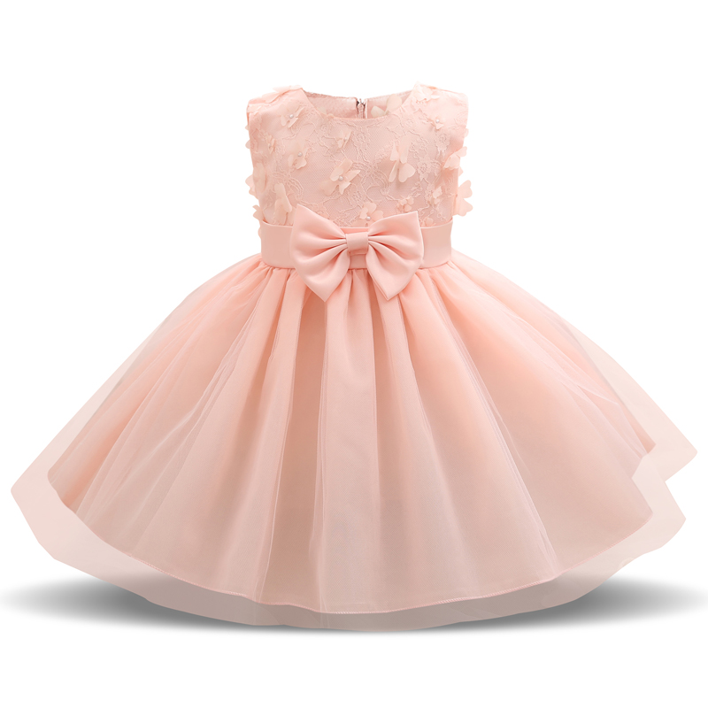 Fairy Petals Flower Baby Girl Wedding Dress 1 Year Birthday Outfits Tutu Kids Dresses For Girls Clothes Bebes Party Vestidos 2T