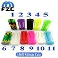2 pçs/lote 18650 Bateria Caso 18650 Bateria Leão Capas Protetoras de Silicone Coloridos de Borracha Macia Da Pele para 2 pcs 18650 Bateria