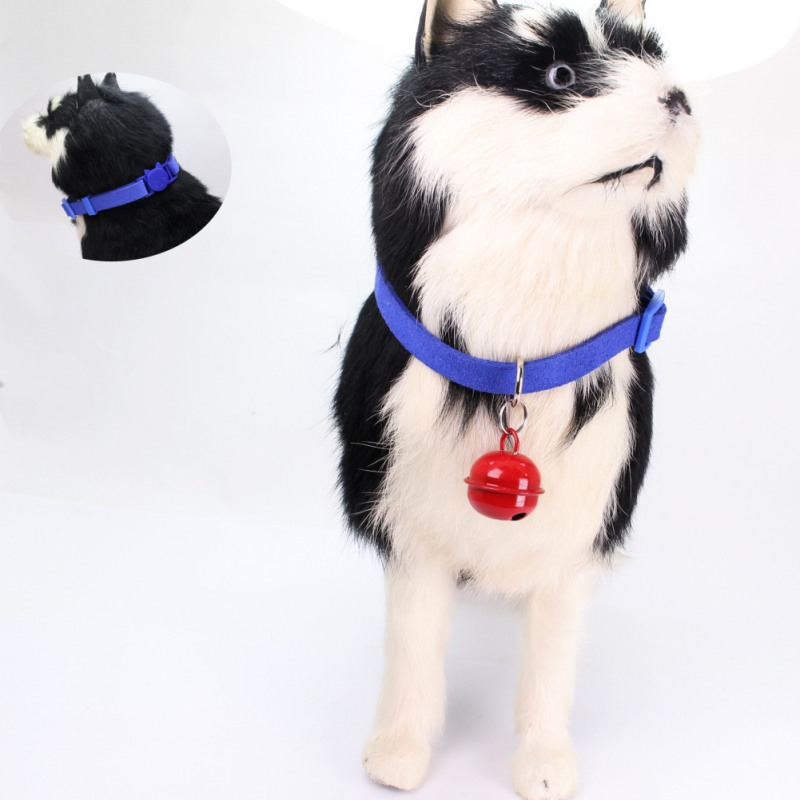 Adjustable Pet Supplies Bell Cat Dog Collar Safety Elastic Soft Velvet Material Pet Product Small Dog Accessories Collar