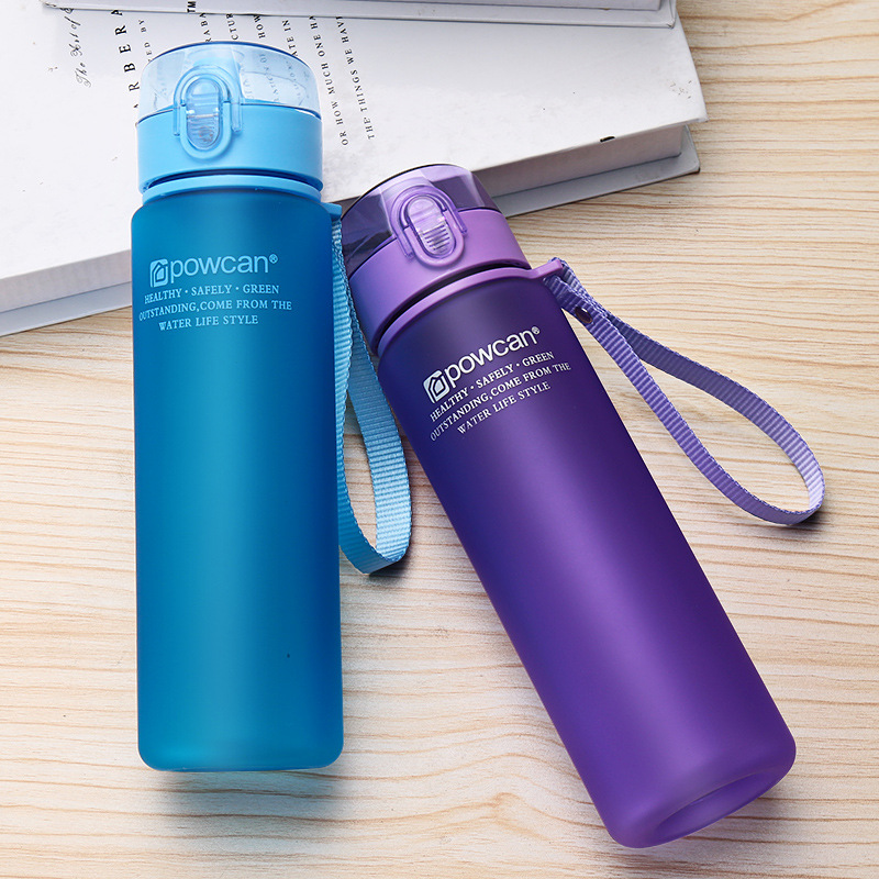 560ml BPA Free Leak Proof Sports Water Bottle Shaker Frosted Bottle For Water High Quality Tour Hiking Easily Portable Bottles