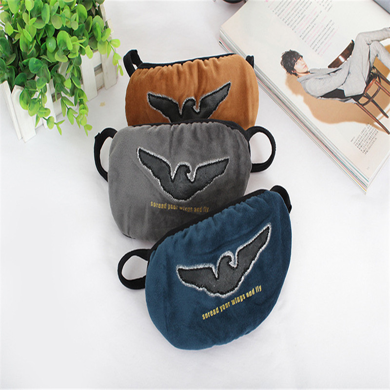 10pcs/Bags Autumn And Winter Cartoon Eagle New Fashion Masks Men Riding Riding Cold Antifreeze Dust Anti-haze Solid Color Masks