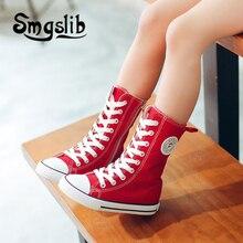 Crianças sapatos meninas crianças alta lona tênis menino formadores da criança adolescente clássico sapatos casuais 2018 primavera outono