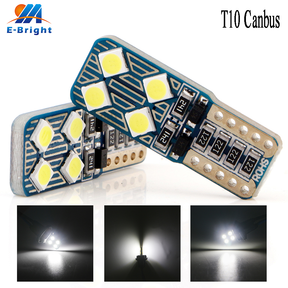 <font><b>100X</b></font> Canbus <font><b>T10</b></font> 3030 8SMD <font><b>LED</b></font> NO ERROR DC 9-16V Bulbs Car Indicator License Plate Lights Clearance Light 12V White image
