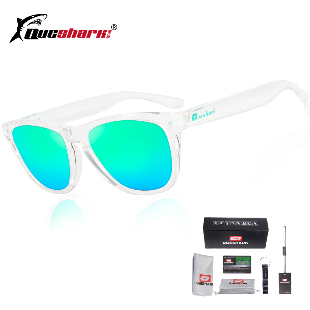 6b2d8aa93a Queshark Polarized Cycling Sunglasses Men Women Sport Fishing Glasses Uv400  Protection Hiking Camping Sunglasses Fishing Eyewear-in Fishing Eyewear  from ...