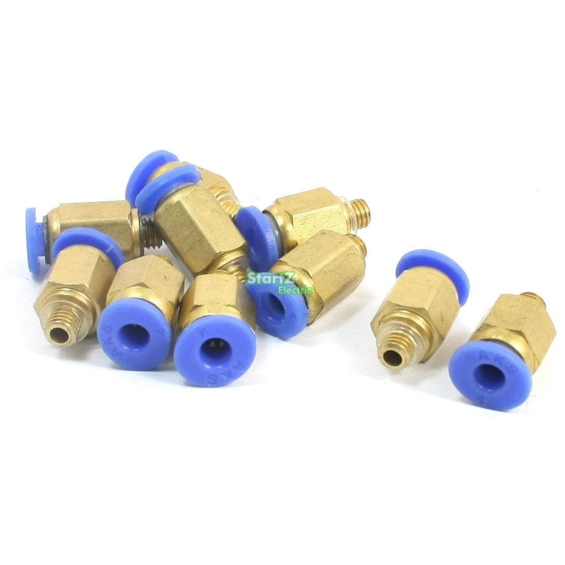 10 x Right Angle Elbow Pneumatic M5 6mmx4mm Air Hose Quick Connectors Coupling