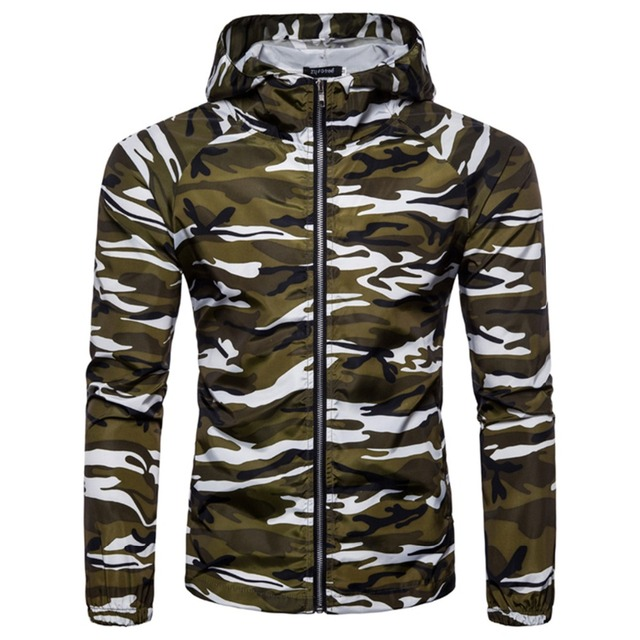 6e0ef338aa0 Camouflage Jackets for Men Autumn Casual Hoodie Thin Military Tactical  Jacket Waterproof Windproof Coat Hooded Camo Army Outwear