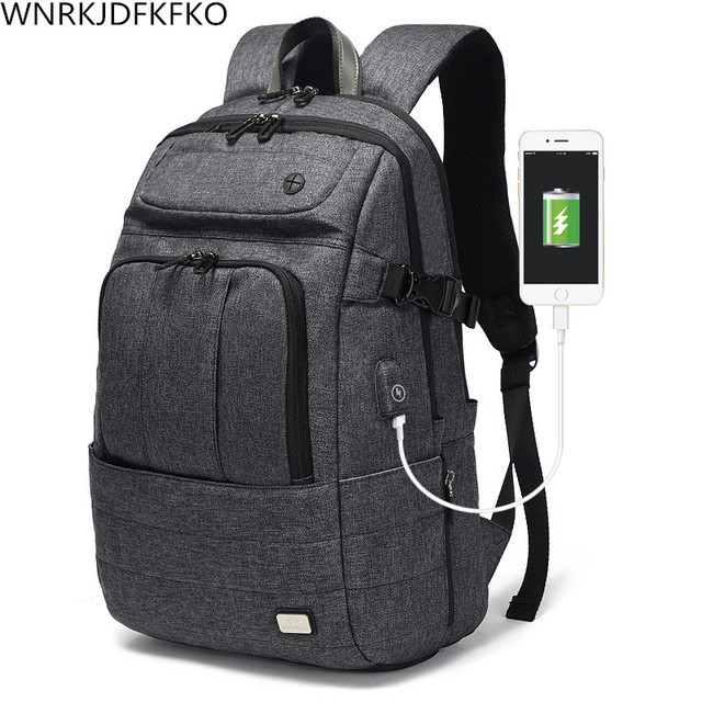 0348b7ff1dc7 US $41.0 41% OFF Backpack Men's And Women's Laptop Urban Backpack Oxford  USB Charging Anti Theft Men's Backpack Travel Backpack -in Backpacks from  ...