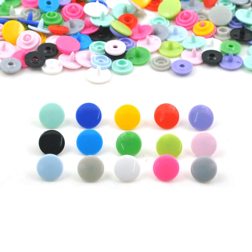 20 Sets 15 Color T3 Snap Buttons KAM Round Plastic Fasteners Quilt Cover Sheet Button For Baby Clothes Accessories For CraftsDIY