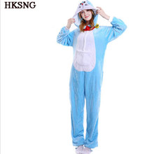 HKSNG Doraemon Pijama Inverno Onesies Animal Adulto Unisex Anime Cat Halloween Traje Cosplay Kigurumi Festa Pijama(China)