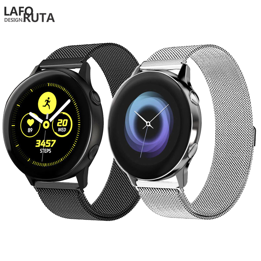 Laforuta for Samsung Galaxy Watch Active Band Milanese Loop Strap 20mm 22mm Quick Release Watch Band Stainless Steel Watch BandLaforuta for Samsung Galaxy Watch Active Band Milanese Loop Strap 20mm 22mm Quick Release Watch Band Stainless Steel Watch Band