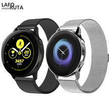 Laforuta for Samsung Galaxy Watch Active Band Milanese Loop Strap 20mm 22mm Quick Release Stainless Steel