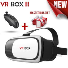 Google cardboard VR BOX 2 II 2.0 VR Glasses 3D Glasses / Virtual Reality Glasses VR Headset For Smartphone +Bluetooth Controller