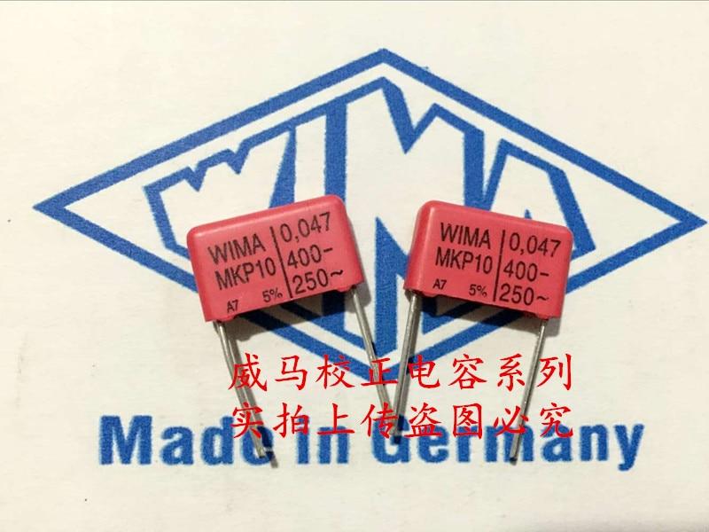 2019 Hot Sale 10pcs/20pcs Germany WIMA MKP10 400V 0.047UF 400V 473 47nf P: 15mm Audio Capacitor Free Shipping