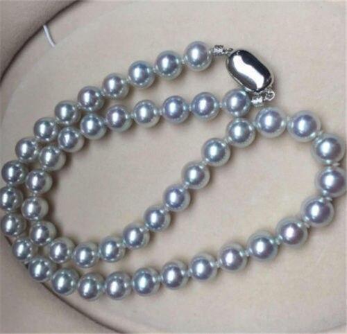 18 дюймов AAA 11 10 мм круглый Южное море серебристо серый жемчужное ожерелье> Горячие продать ожерелье Бесплатная доставка
