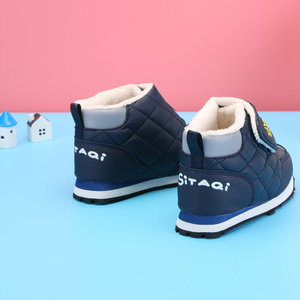 Image 2 - Kids winter boots late autumn boot little girl boy short style warm shoe fur insole cute animal pate design colorful free shippi