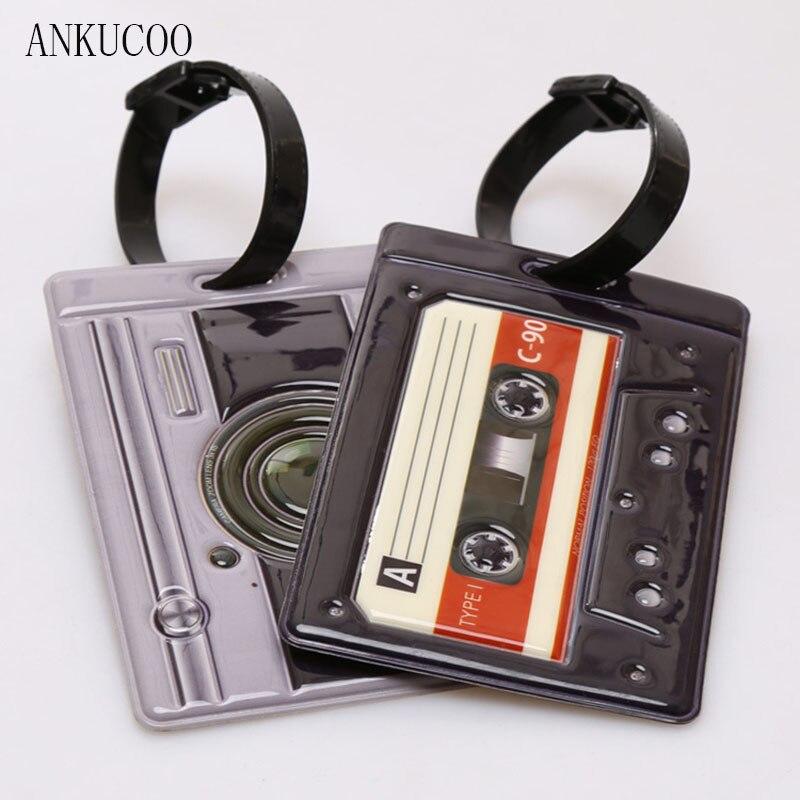 Творческий Классический Камера Туристические товары Чемодан тег силикагель чемодан ID addres держатель багажа чашку теги Портативный label