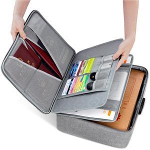 Image 5 - Boona אוקספורד עמיד למים מסמך תיק ארגונית ניירות אחסון פאוץ תיק אישורים תעודת אחסון קובץ כיס עם מפריד